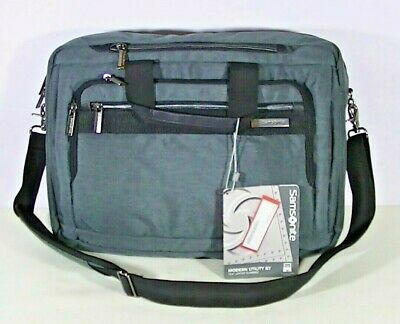 "Samsonite Modern Utility GT 15.6"" Laptop Slim Grey Briefcase"
