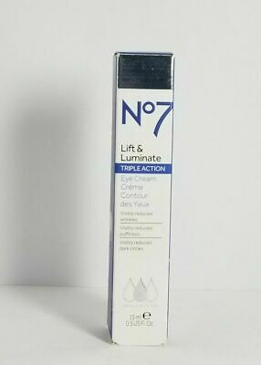 BOOTS NO 7 Lift and Luminate Triple Action Eye Cream!Younger Eyes In 2  Weeks NEW