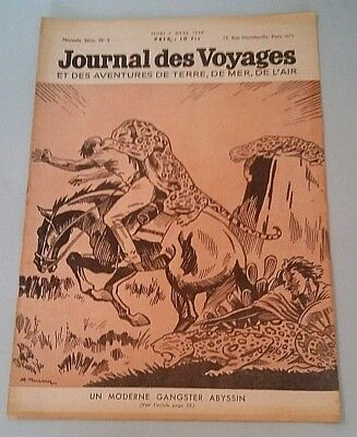 Journal Des Voyages (Spiral Bound N°2 Jeudi 7th March 1946 a Modern Gangster