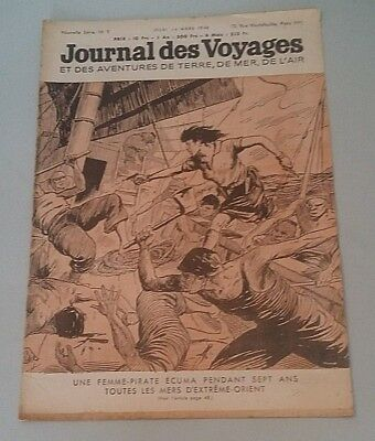 Journal Des Voyages (Spiral Bound No 3 Jeudi 14th March 1946 One Femme-Pirate