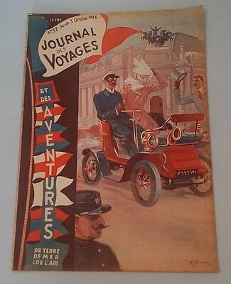 Journal Des Voyages (Spiral Bound No 32 Jeudi of Manufacture 3rd October 1946