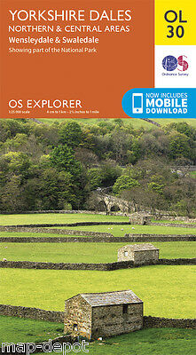 YORKSHIRE DALES (Northern/Central Areas) EXPLORER Map - OL 30 - OS - + DOWNLOAD