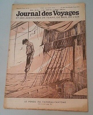 Journal Des Voyages (Spiral Bound No 5 Jeudi 28 March 1946 the Hanged Man of