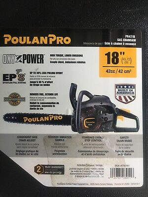 Poulan Pro PR4218 18 inch 42cc 2-Cycle Gas Chain Saw with Hard Case