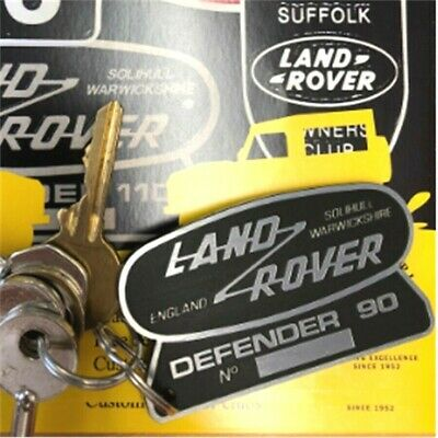 For Land Rover Defender 90 Plastic Key Anello Plate 70Mm X 42Mm