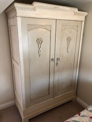 Large french style pine wardrobe/armoire painted Superb Quality