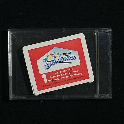 Magic Box Rewritable Embroidery Designs Card #1 for Deco Brother Babylock Viking
