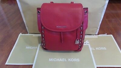 1667a45fd682 NWT MICHAEL KORS Sadie Medium Backpack Black Leather Dust Cover ...