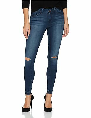 d515c7e18dc William Rast NEW Blue Womens Size 30x27 Knee-Slit Ankle Skinny Leg Jeans  $79 475
