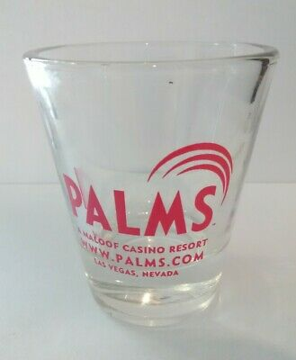 Palms Hotel Casino Las Vegas, Nevada Pink Logo Shot Glass Great For Collection!