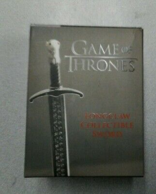 Game of Thrones Longclaw Collectible Sword Jon Snow Metal Sword w/stand & book