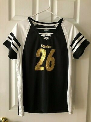 caf391e67 Women's Majestic NFL Pittsburgh Steelers Lace-Up V-Neck Jersey Shirt NWT  Size XL