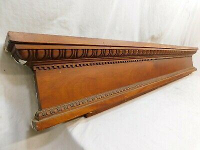 1880's Antique DOOR PEDIMENT Egg & Dart Dentil Molding VICTORIAN Style ORNATE