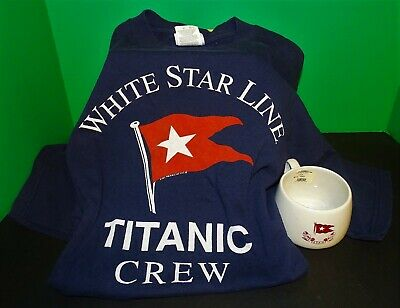 RMS Titanic White Star Line T-Shirt & Mug Authentic Reproduc Artifact Collection