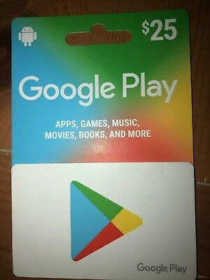 Google Play Gift card - $25 : Free fast shipping