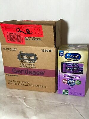 GENTLEASE Enfamil Neuro Pro Infant Formula 4- Boxes /56 Individual Packets New