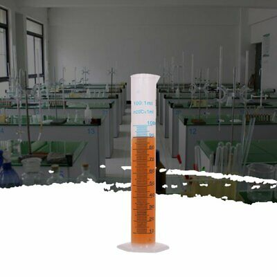 250Ml Plastic Measuring Cylinder FUEL Measure Bottle Lab Trial Test Liquid Tube