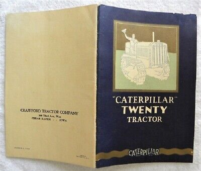 1927 Caterpillar Twenty 20 Tractor Advertising Sales Catalog, Cat Brochure