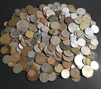 4.2 Lbs / Pounds Lot Of Foreign World Coins Nice Mixed Bag Collection .99 Start