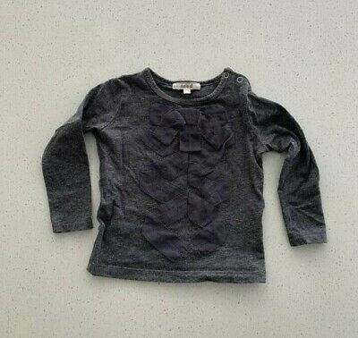 Baby SEED long sleeve grey top 6-12 Months