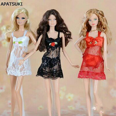 1set Fashion Lace Costumes + Bra + Underwear Clothes For 1/6 Doll Toy Gown Dress