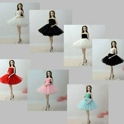 Fashion Summer Dress For 11.5in Doll Short Ballet Dresses For 1/6 Doll Clothes
