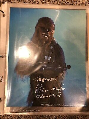 DECEASED Peter Mayhew Star Wars 8x10 signed auto photo autograph Chewbacca