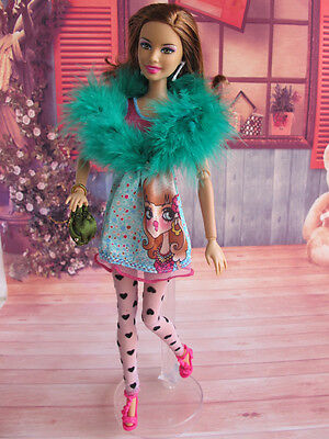 Barbie Doll 4pc set Outfit Clothes Fashion Casual Wear