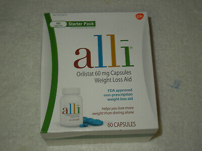 Alli Starter Pack Weight Loss Aid Orlistat 60mg Capsules FDA Approved  EXP 06-21
