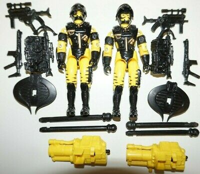 Gi Joe Cobra Vintage 1992 Yellow Alley Viper X2 Loose Complete Army Builder Lot