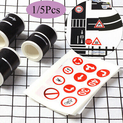 1x Adhesive Car Toys Road Tape Removable Track Railway//Highway//Expressway 5mx5cm