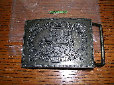 Ford Auto Model T Numbered Belt Buckle Brass Nice!