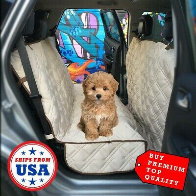 BEST SELLER Luxury Quilted Pet Dog CAR SEAT COVER Cargo Liner Protector TAN