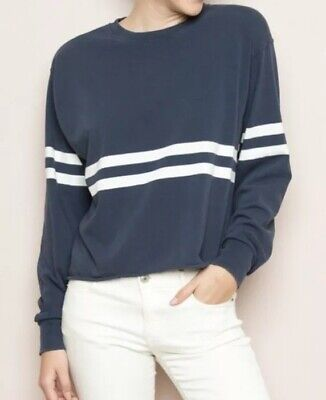 6fb2a1a911 Brandy Melville Faded Navy/white Striped Long Sleeve Acacia Top S/M One Size