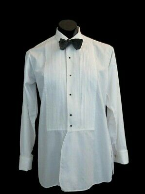 Dress Shirt With Pleated Front and French Cuffs by Welmar - 1950s - Neck 38.5 cm