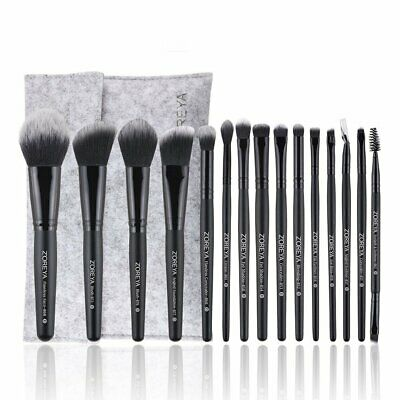 ZOREYA Makeup Brush Set High End Professional Synthetic Cruelty With Case nG