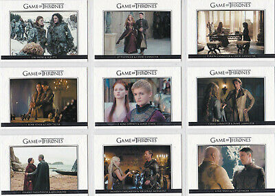Game Of Thrones Season 3 Game Of Thrones Relationships Insert Set Dl1-Dl20 (20)