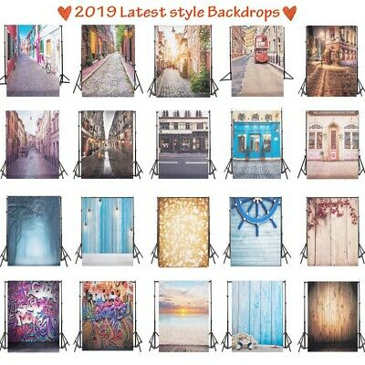 New 5x7FT/3x5FT Photography Background Street Photo Vinyl Backdrop Wood Wall UK