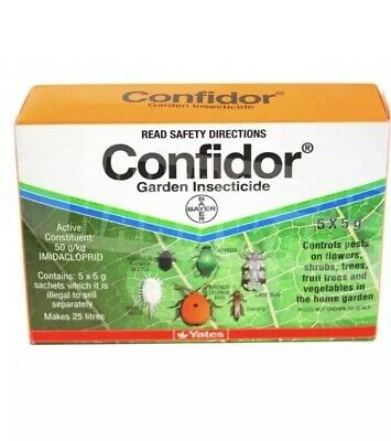 Yates CONFIDOR Garden Insecticide 5 x 5 gms , Targets Mealybug