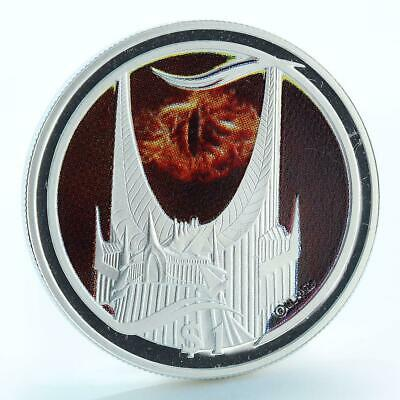 New Zealand 1 dollar Dark Lord's Tower of the Eye proof silver coin 2003