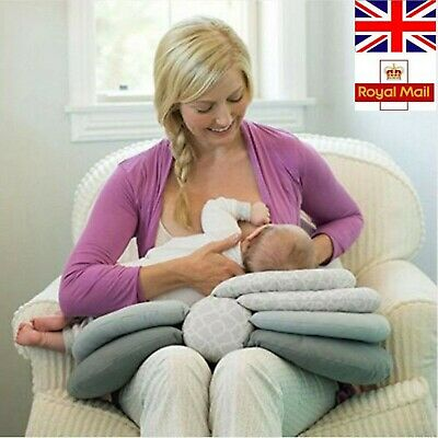 Nursing Pillows For Breastfeeding Mothers Elevate Adjustable Boppy Baby Layered