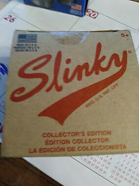 Vintage James Industries Metal Slinky 50th Anniversary Collector's Ed. Box Song
