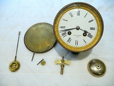 Antique Late 19th Century French Bell Striking Clock Movement Complete 4 Repair
