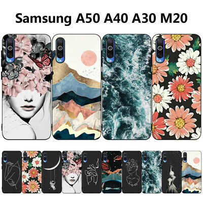 For Samsung Galaxy A50 A40 A20e A70 Pattern Soft TPU Shockproof Matte Case Cover