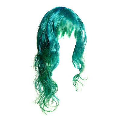 Blue Banana Blue Green Long Layered Fancy Dress Cosplay Anime Hair Wig