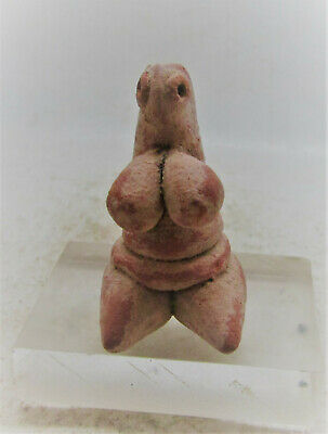 Finest Circa 6000Bce Ancient Tel Halaf Terracotta Fertility Figure