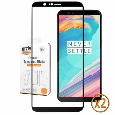 OnePlus 5T Premium Tempered Glass Screen Protector Pro-Fit 2.5D Black By Orzly