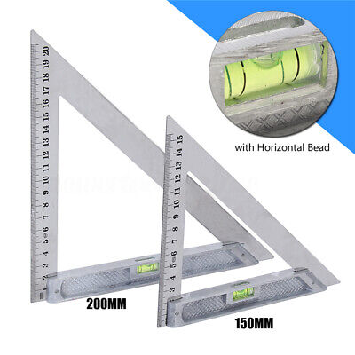 Exact 150mm/200mm Triangle Ruler 90° with Horizontal Bead Woodworking
