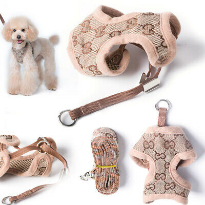 Floral Soft Dog Cat Harness And Lead Set For Chihuahua Pomeranians Puppy Rabbit