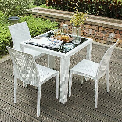 Outstanding 3X Garden Outdoor Furniture Wicker Rattan Dining Chairs Ncnpc Chair Design For Home Ncnpcorg